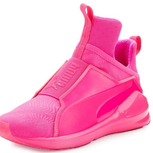 Rihanna Pink PUMA High Top Shoes